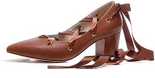 BalaMasa Womens Solid Dance-Ballroom Casual Urethane Pumps Shoes APL11297