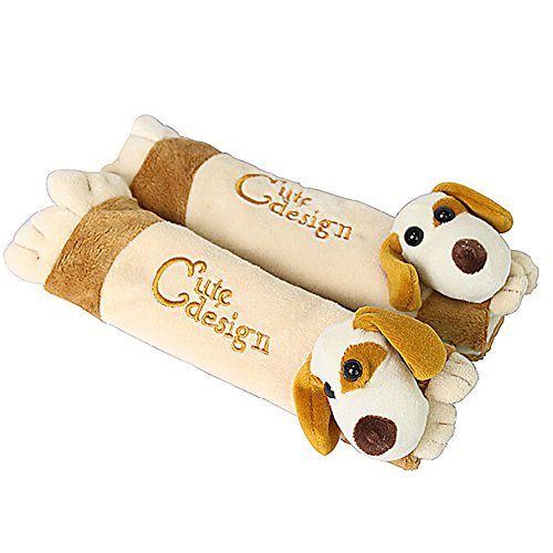 Une paire de bébé Kid Siège auto Sangle Coque bambins Infant Poussette Strapcover Chiens