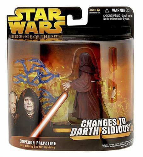 Hasbro 85432 Star Wars Emperor Palpatine changes to Darth Sidious Revenge of the Sith 2005