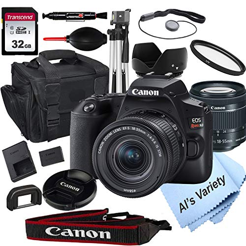 Canon EOS Rebel SL3 DSLR Camera with 18-55mm f/4-5.6 is STM Zoom Lens + 32GB Card, Tripod, Case, and More (18pc Bundle)