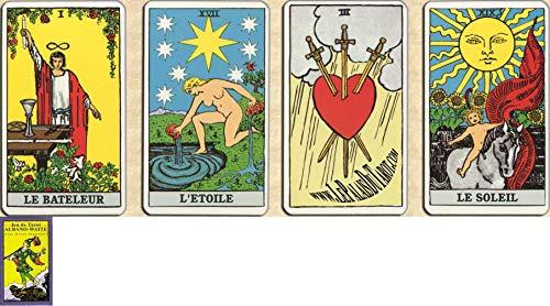 Albano Waite Tarot en français - Jeu de 78 Cartes - Cartes de voyance avec Explication des 78 Lames (livret en FR) - Lecture consciente et inconsciente - Rider Waite Tarot divinatoire
