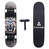 Playshion 31 Pouces Skateboard avec T-Tool pour Enfants Adolescents Adultes Débutants