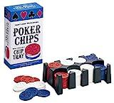 Quatre-vingt-huit jetons de Poker professionnel avec plateau -