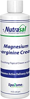 Nutrasal Liposomal Magnesium & L-Arginine Cream - 8 Ounce