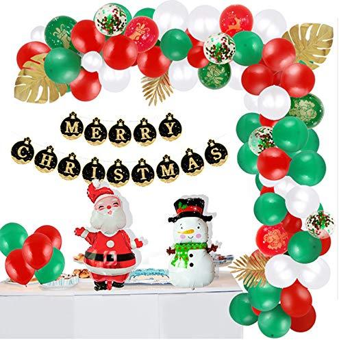 Gokiu Christmas Balloons Set 100 pcs Party Decorations Arch Balloons with Balloon Decorating Strip,for Xmas Holiday Party Decor,Black