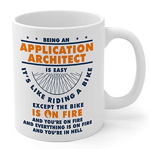 N\A Regalos Arquitecto de Aplicaciones 11oz Cerámica Blanca Taza de café de Hombres y Mujeres de aplicación Archite