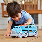 Green Toys Car Carrier Vehicle Set Toy, Blue Loaded