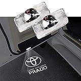 簡単取り付け トヨタ プラド用 150系 LED使用 ロゴ カーテシランプ 2個セット 工具付 角度調整機能付き PRADO