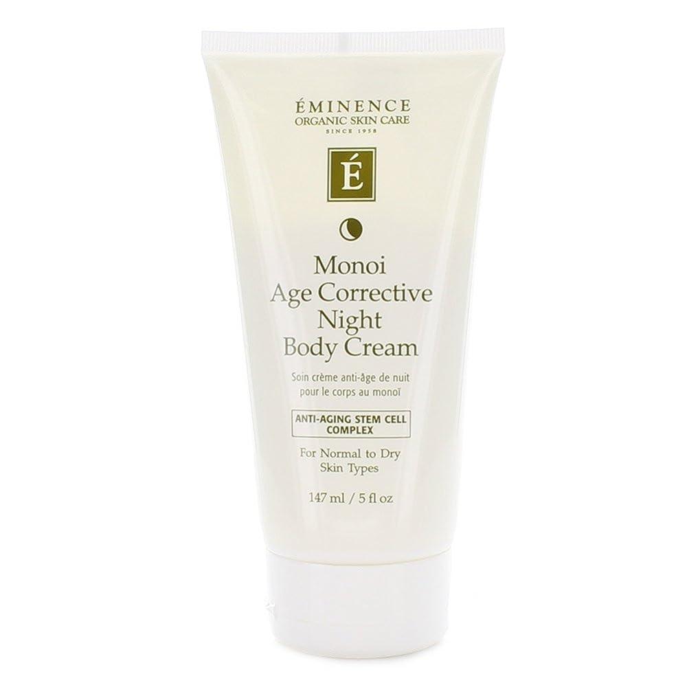 連想遺体安置所学習Eminence Monoi Age Corrective Night Body Cream 147ml 5oz by Eminence Organic Skin Care [並行輸入品]