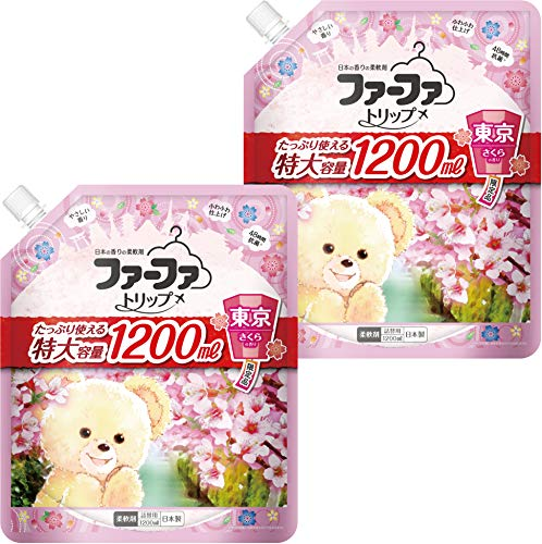 ファーファ トリップ 柔軟剤 東京 さくら の香り 詰替 (1200ml) 2個セット