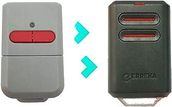Vervangende afstandsbediening voor garage, Erreka Kuma, 2 kanalen, vaste code 433 MHz, compatibel met Erreka Luna en Reso...