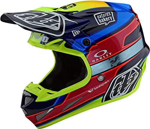 Troy Lee Designs SE4 Carbon Casco de motocross Speed Team - Azul/Amarillo (L)