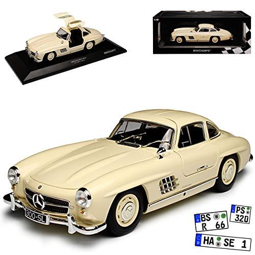 Minichamps Mercedes-Benz 300SL SL-Klasse Coupe Cream Beige W198 1954-1963 Flügeltürer limitiert 300 Stück 1/18 Modell Auto