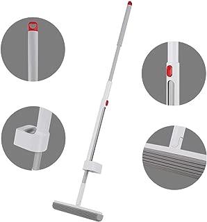 モップCleanhome スポンジモップ フロアモップ 絞り器付き 手洗い不要 手を濡らさず 180°回転 自立タイプ 本体ホワイト 日本語取り扱い説明書付き