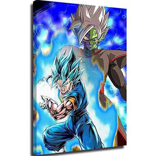 Canvas Poster Wall Art Canvas Pictures for Living Room Wall Dragon-Ball-Legends-vegito-Blue Painting Canvas Wall Art 24x36inch