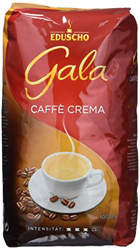Eduscho Gala Caffé Crema Röstkaffe in ganzem Bohnen, 1 kg