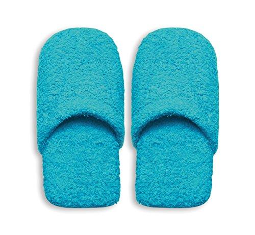 Excelsa Caldo Pantofole da Bagno Donna, Spugna, Azzurro, 27.5 x 11 x 3 cm