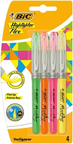 Bic Atlantis - Pack 4 marcadores fluorescentes
