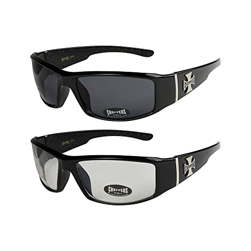 Sports silver and white Cycling Women Men Biker Mens Womens Motorcycle Motorbike Unisex anthracite Glasses Sport 2-Pack Choppers foam padded goggles sunglasses in the colours black