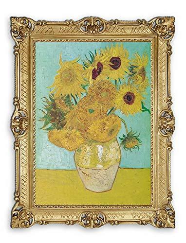 Lnxp Prachtig schilderij 90 x 70 cm kunstenaar; Vincent Van Gogh Zonnebloemen
