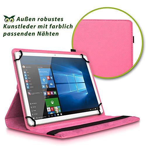 NAUC Tablet Hülle kompatibel für Lenovo Tab 2 A10-70 Tasche Schutztasche Cover Schutz Case 360° Drehbar Etui hochwertiges Kunst-Leder, Farben:Pink