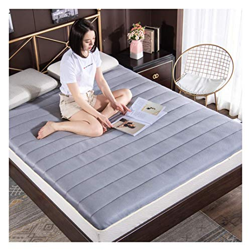 HFMY Futon Mattress Japanese Tatami Mattress, Breathable 5cm Thick Soft Student Dormitory Folding Mattress for Sleeping Pad, Floor Mat, Bed Mattress Pad,Gray,120x200cm(47x79inch)
