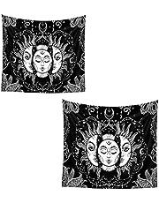 Burning Tapestry Witchcraft Muur Opknoping Psychedelische Deken voor Slaapkamer Decor 73x95cm