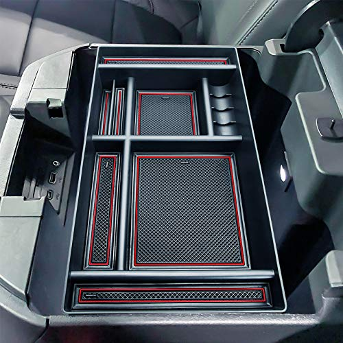 JKCOVER Center Console Organizer Tray Compatible with (2019-2021) Chevy Silverado 1500/GMC Sierra 1500, 2020-2021…