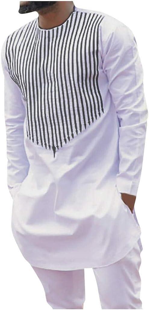 VEZAD Men Tracksuit Autumn Spring Tulsa Mall Print African Slee Luxury Long Sale