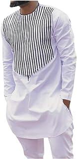 Uomini 2-Piece Tuta Uomo Autunno Inverno Di Lusso Africano Stampa Camicia Manica Lunga Vestito