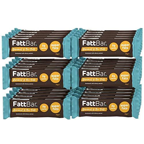 Caramel & Sea Salt FattBar (Pack of 30) | 2 Grams Carbs Per Bar, Keto, Low Carb, No Added Sugar, All Natural, No Polyols, Healthy Fats, Delicious, Vegan
