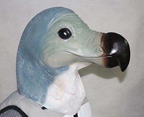 De Rubber Plantation TM 619219293655 Dodo Latex Masker Vogel Dier Halloween Uitgestorven Volledige Hoofd Fancy Jurk Kostuum Accessoire, Unisex-Volwassene, Een Maat