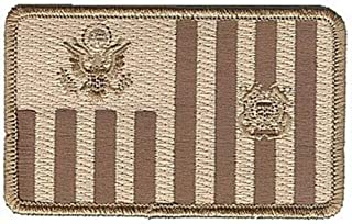 Coast Guard Ensign Subdued Desert TAN Brown W5070 USCG Coast Guard Patch by HighQ Store