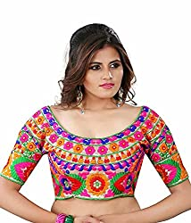 22bb9321955a4 Kuvarba Fashion Multi Color Fabric Silk Embroidered Readymade Designer  Blouse