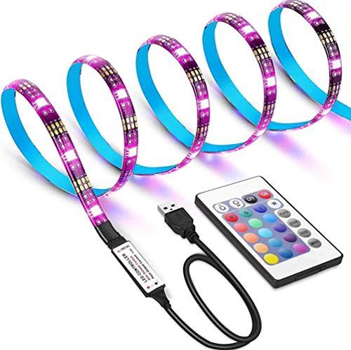 YSSMAO Luz de Fondo de TV USB ORIA LED Tira de luz DC5V 2835 con iluminación de polarización remota RF para 40 a 60 Pulgadas HDTV/PC/Monitor Mood Light,4m