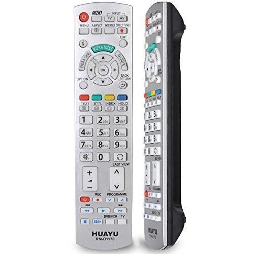 N2QAYB000752 Télécommande de rechange pour téléviseurs Panasonic LED LCD 3D ou plasma Argenté