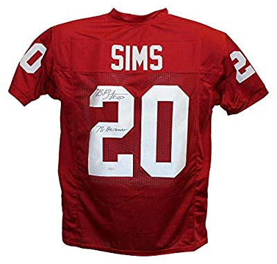 Billy Sims Signed Jersey - College Style Red XL Heisman 13123 - JSA Certified - Autographed College Jerseys