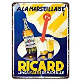 ZYPENG Wall Decor Metal Home Fabric Ricard pastis French Liqueur bar Pub Sign Personalized Metal...