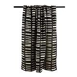 DII Urban Geometric Collection Cotton Throw Blanket, 50x60, Black