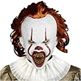 Scary Clown Mask Pennywise Cosplay Halloween Latex Creepy Joker