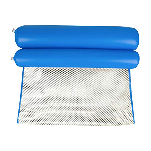 Taloit Hamaca de agua, hamaca plegable de agua para personas individuales con respaldo inflable para la playa, tumbona de piscina, cama de 130 x 70 cm
