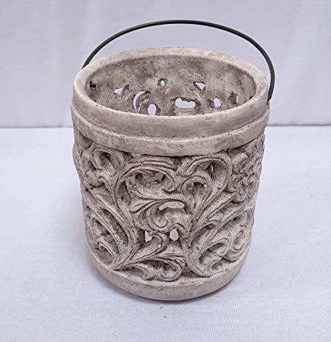 linoows Laterne mit Arabesken, Garten Laterne, Antike Beton Teelicht Laterne