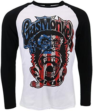 USA Monkey Logo Long Sleeve T-shirt Official Licensed TV