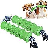 Yumanluo Hundezahnpflege Reinigen Spielzeug Bürsten,Zahnstocher, bissfestes Spielzeug mit Seil 2...