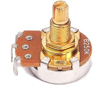10pcs Guitar /& Amp Potentiometer 500K Audio Knurled Split Shaft