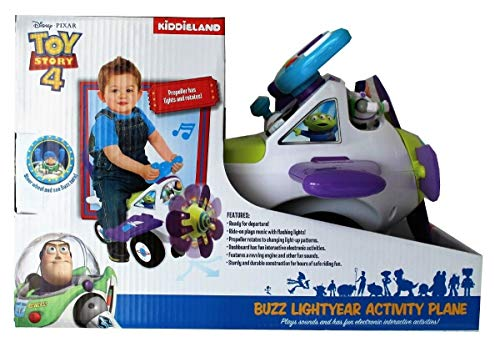 Disney Pixar Toy Story 4 Lightyear Acitvity Plane Ride on Car Toy Lights Sounds