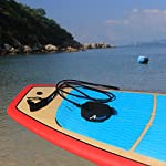 """Abahub Premium Surfboard Leash, Straight Surf Board Leg Rope, SUP Legrope Strap for Shortboard, Longboard, Paddleboard… 9 Full Range: Size options: 6ft, 7ft, 8ft, 9ft, and 10ft; 10 Color options: Black, Blue, Green, Clear Red, Clear Blue, Orange, Purple. It's recommended to choose a leash equal in length to or slightly longer than the board it will be used on. Strong & Safe: This leash is made of super strong 7 mm thick polyurethane cord, with molded-in double Stainless Steel swivels. The double wrap-around velcro cuff is to add extra strength and security to your connection. Comfortable & Easy: High-density neoprene padded 2"""" Ankle Cuff has an easy pull tab with a hidden key pocket."""