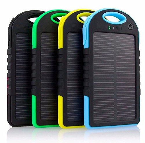Power Bank Solar Cargador BATERIA Externo 5000mAh Universal Smartphone