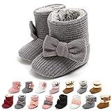 Infant Baby Girl Boots Cozy Fleece Booties Winter Baby Girl Princess Dress Shoes Newborn Crib Shoes Warm Baby Footwear