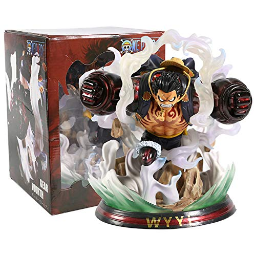 Anime One Piece Monkey D Luffy Gear Fourth 4 Bound Man Gk Statue PVC Figura Coleccionable Modelo Juguete 20Cm